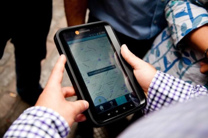 Treasure hunt tablet for navigation