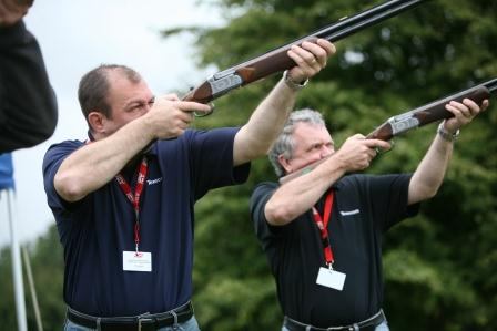 Clay Shooting at The Games Olympic team building event
